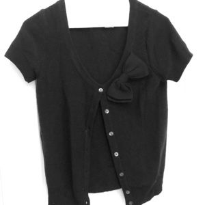 JCrew Black Wool Sweater with bow